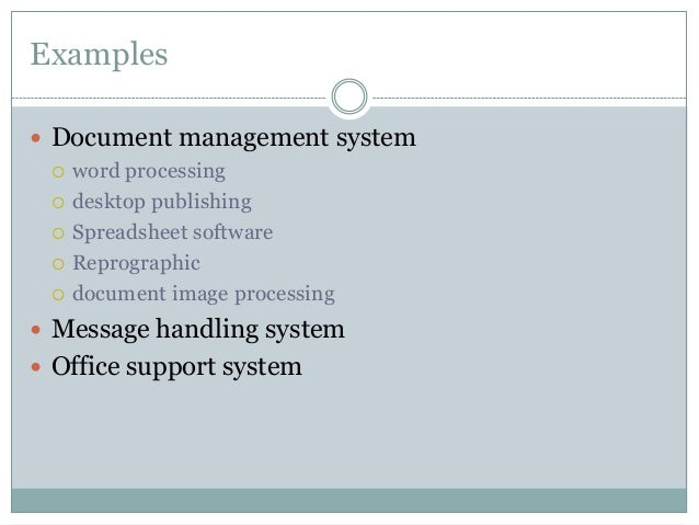 Different Types Of Information Systems Is