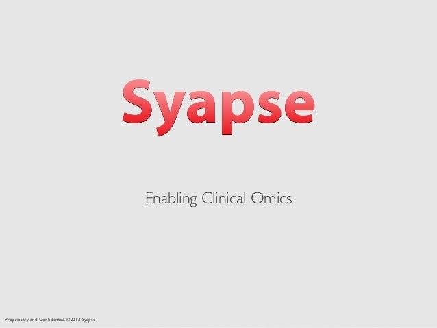 Syapse Presentation at Health2.0 Silicon Valley meetup 7-16-13