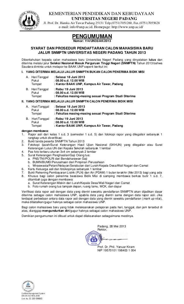 KEMENTERIAN PENDIDIKAN DAN KEBUDAYAANUNIVERSITAS NEGERI PADANGJl. Prof. Dr. Hamka Air Tawar Padang 25131 Telp.(0751)705126...