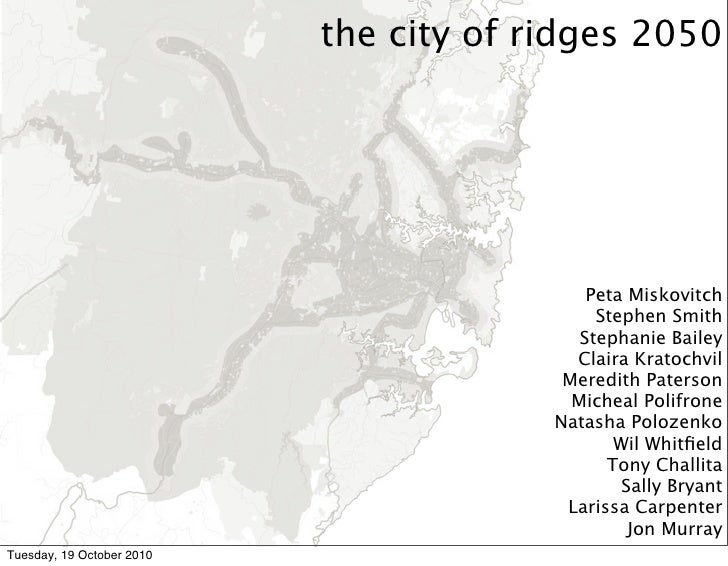Sydney 2050 | city of ridges | biocity studio