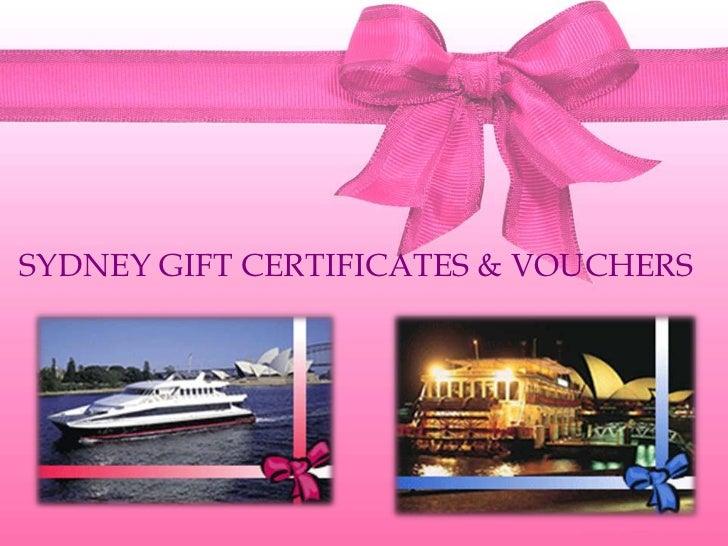 Sydney gift certificates