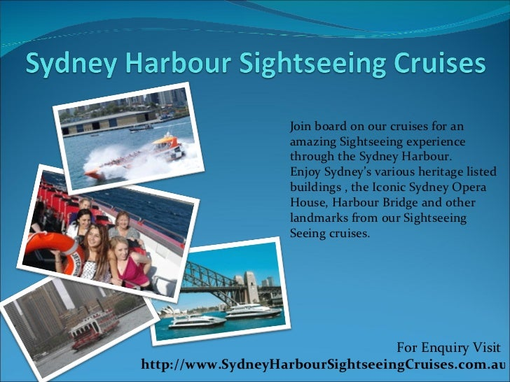Join board on our cruises for an amazing Sightseeing experience through the Sydney Harbour.  Enjoy Sydney's various herita...