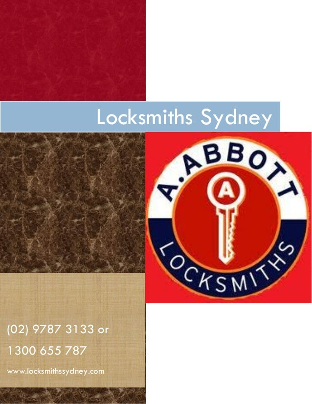 Call Us Now(02) 9787 3133 or1300 655 787www.locksmithssydney.comLocksmiths Sydney