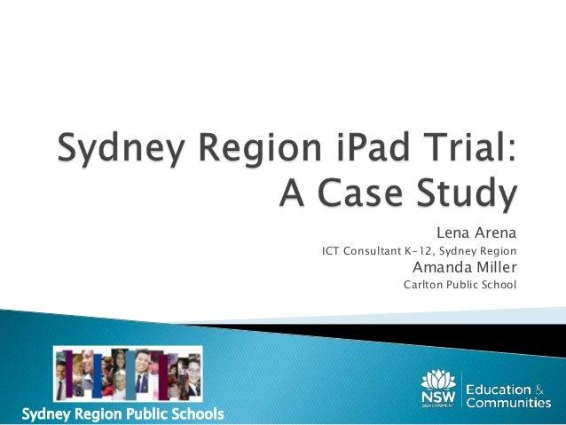 Sydney Region i pad Trial Inspire2013
