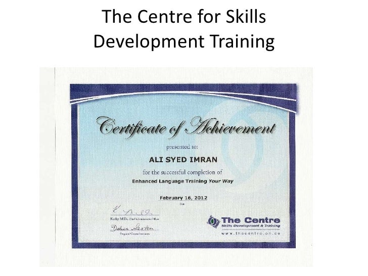 The Centre for SkillsDevelopment Training