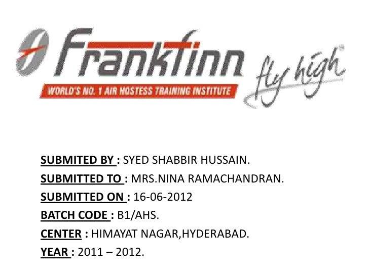 Frankfinn Aviation Presentation ...