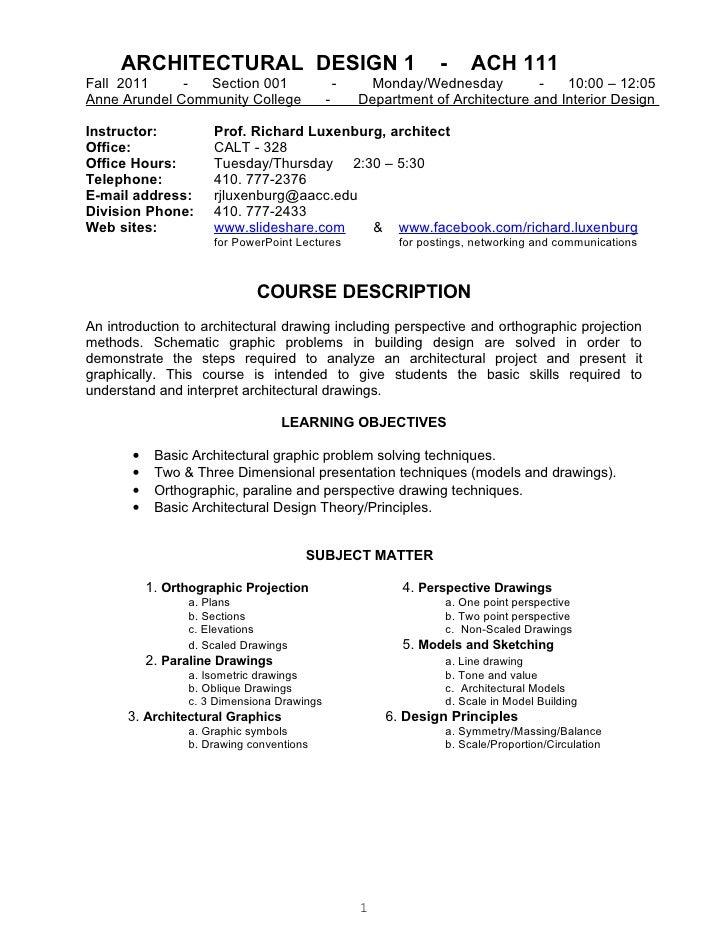 ACH121 001 f 2011 syllabus