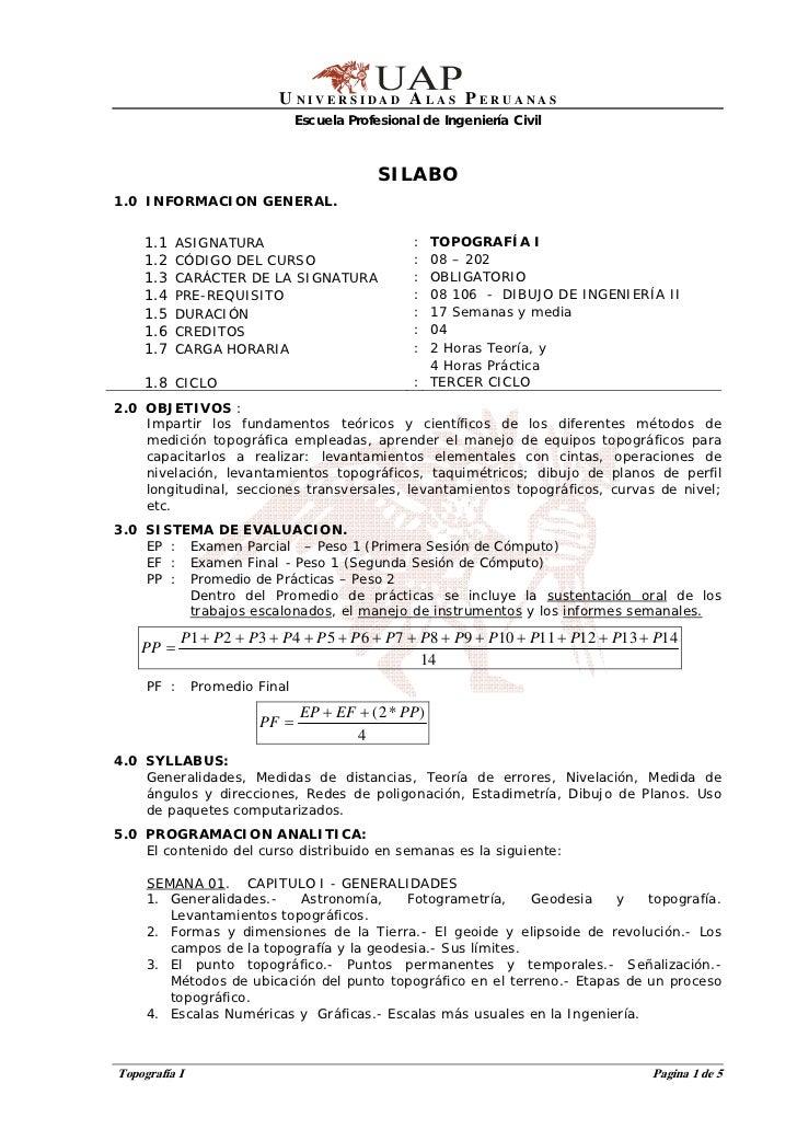 U NIVERSIDAD A LAS P ERUANAS                              Escuela Profesional de Ingeniería Civil                         ...