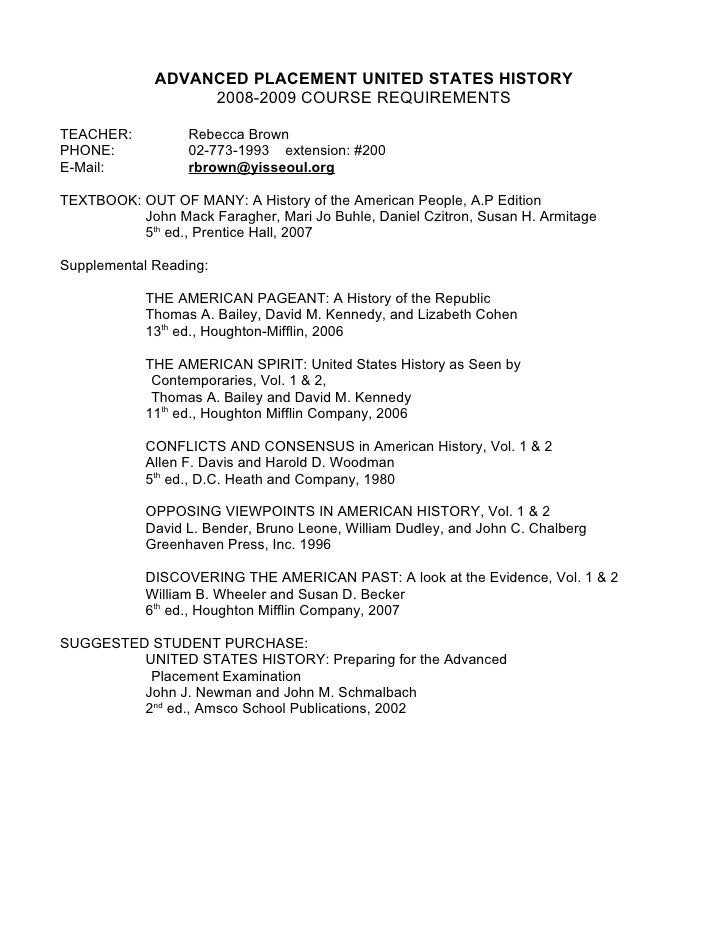 american pageant chapter 2 i ds essay Sample syllabus 2 contents  the american pageant, chapters 2-4  students will be asked to write college-level essays that require a thesis statement and.