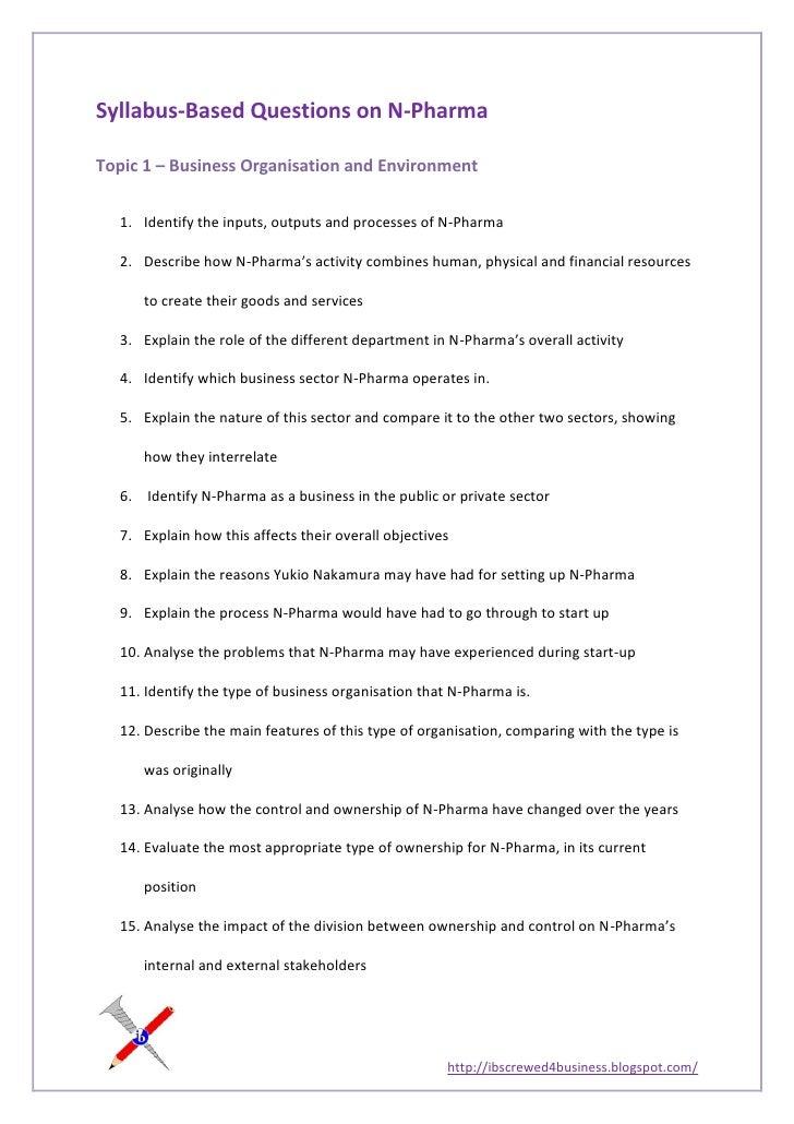 Syllabus based questions on n-pharma
