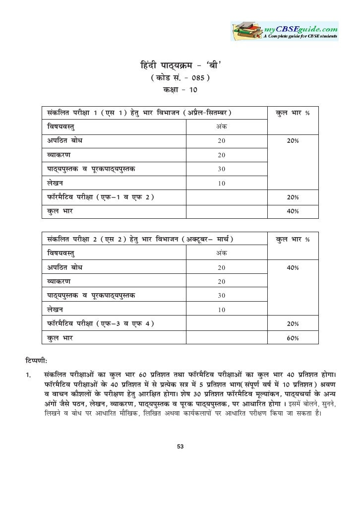 Syllabus   hindi