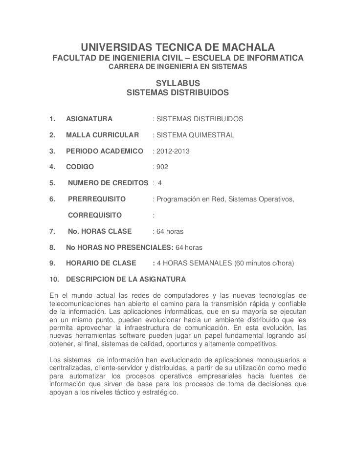UNIVERSIDAS TECNICA DE MACHALAFACULTAD DE INGENIERIA CIVIL – ESCUELA DE INFORMATICA                   CARRERA DE INGENIERI...