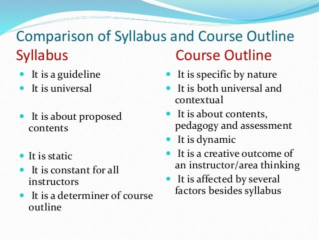 230 syllabus and course outline Course outline: art230 – perspective instructor: robert st course objectives ii class syllabus the scheduled lectures & assignments set forth in this outline.