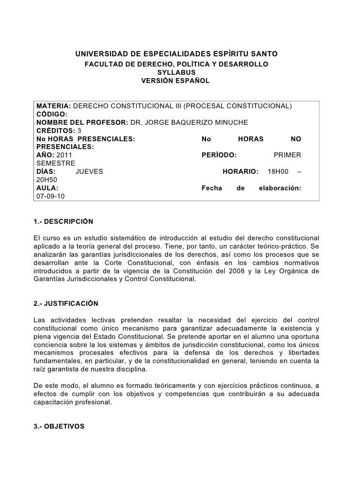UNIVERSIDAD DE ESPECIALIDADES ESPÍRITU SANTO                 FACULTAD DE DERECHO, POLÍTICA Y DESARROLLO                   ...