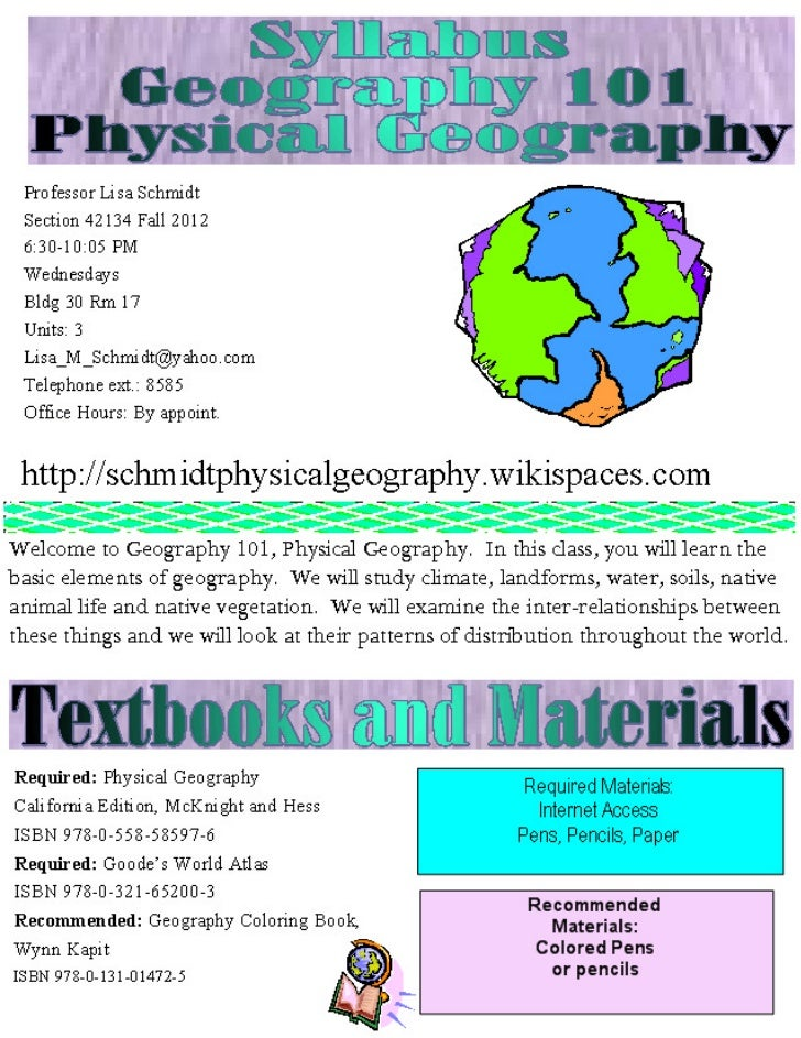 Syllabus geog 101 m fall 2012 s