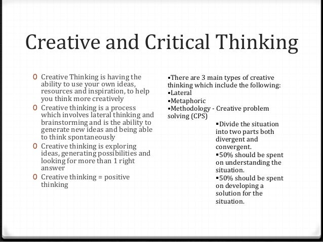 importance of critical and creative thinking in society Critical and creative thinking in society 2 critical and creative thinking in society introduction critical and creative thinking are an important part of everyday life.
