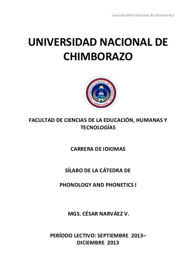 Universidad Nacional de Chimborazo UNIVERSIDAD NACIONAL DE CHIMBORAZO FACULTAD DE CIENCIAS DE LA EDUCACIÓN, HUMANAS Y TECN...