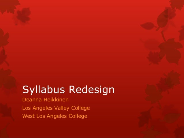 Syllabus redesign presentation