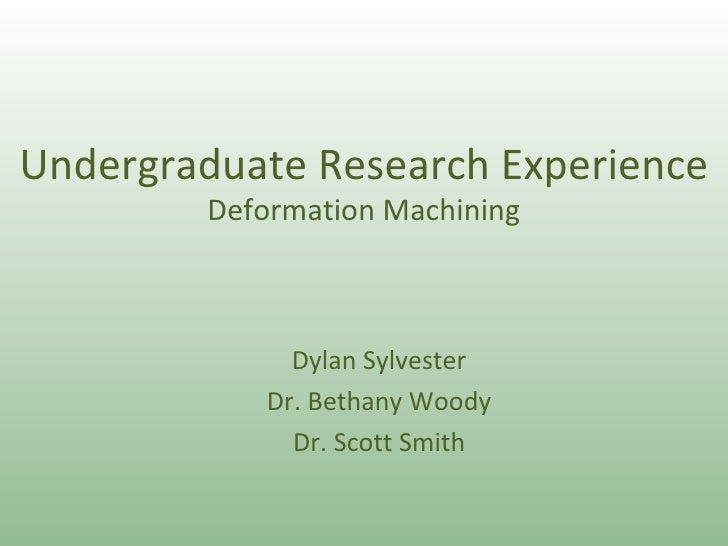 Sylvester Reu Presentation