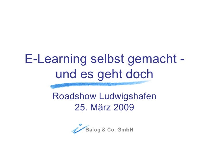 Sylvia Rumler: E-Learning selbst gemacht - und es geht doch