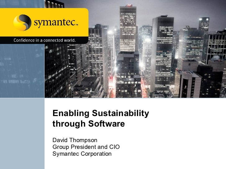 Sustainability Through Software   Symantec At United Nations L