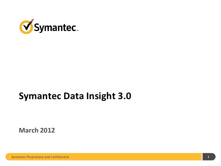 Symantec Data Insight 3.0