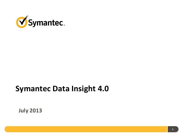 Symantec Data Insight 4.0 July 2013