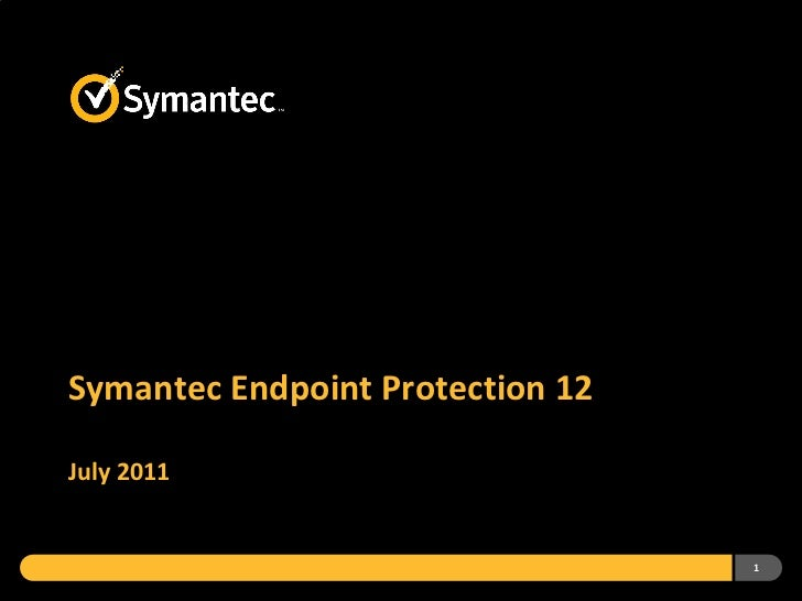 Symantec Endpoint Protection 12