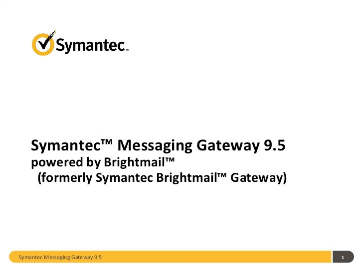 Symantec Messaging Gateway 9.5
