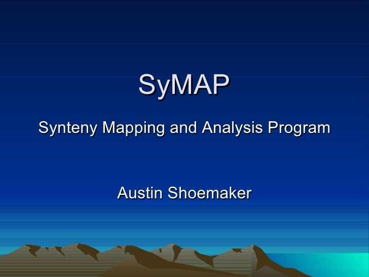 SyMAP Master's Thesis Presentation
