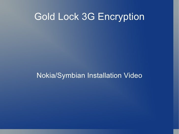 Symbian Install Gold Nugget