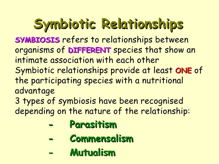 different types of biological relationship