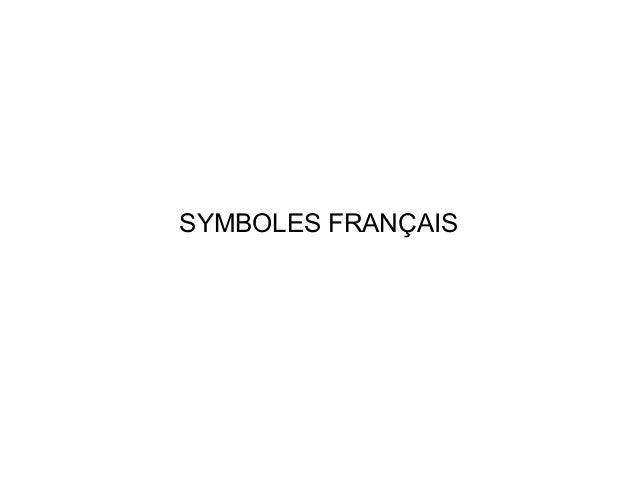 SYMBOLES FRANÇAIS