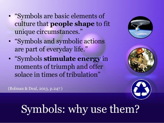 "Symbols Elements of Culture ""symbols Are Basic Elements of"