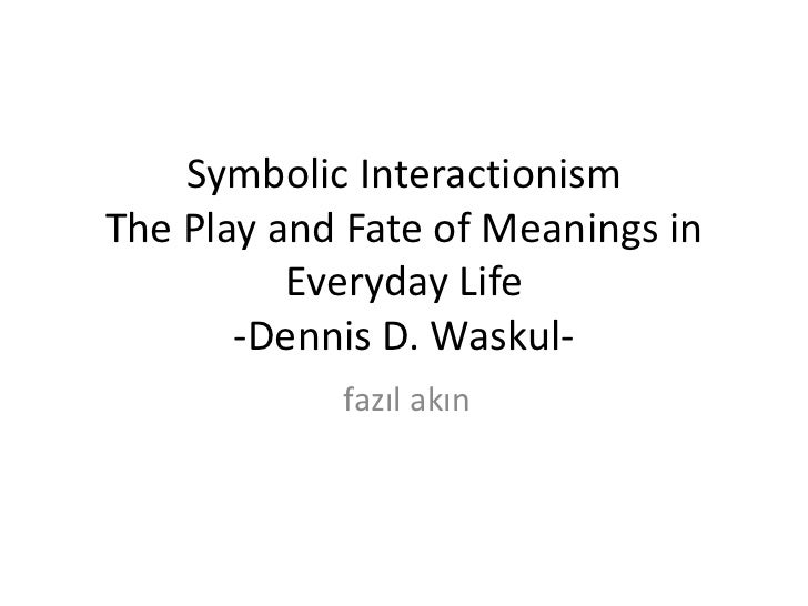 symbolic interactionsim Symbolic interactionism relies on the symbolic meaning that people develop and rely upon in the process of social interaction they believe that people are not a product of their environment rather the environment is a product of people.