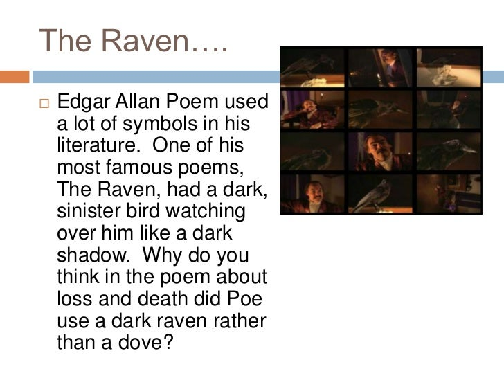essay over the raven The raven - setting the chamber of a house at midnight poe uses the word chamber rather in this essay i will be exploring edgar allen poe's the raven, to demonstrate the expression of guilt i will be analyzing the idea that the narrator of the poem is not just expressing sorrow over the loss of.