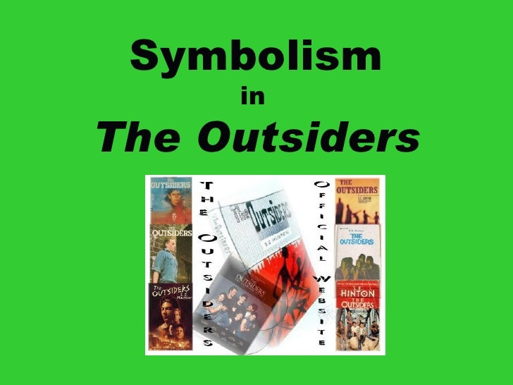 Symbolism in the outsiders for bookmark activity final