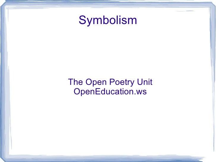 Symbolism: symbols of life