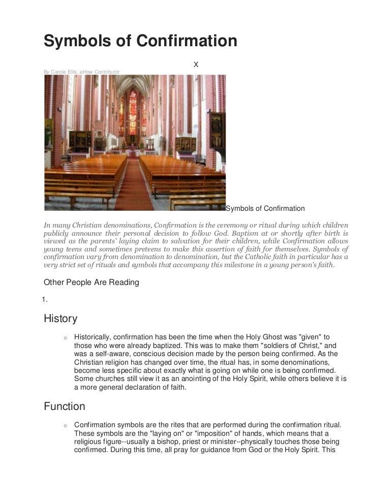 Symbols of confirmation