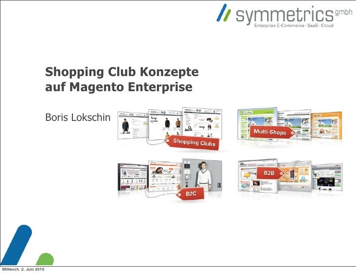 Shopping Club Konzepte                          auf Magento Enterprise                           Boris Lokschin     Mittwo...