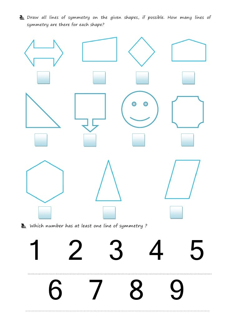 Drawing Lines Of Symmetry : Symmetry worksheet