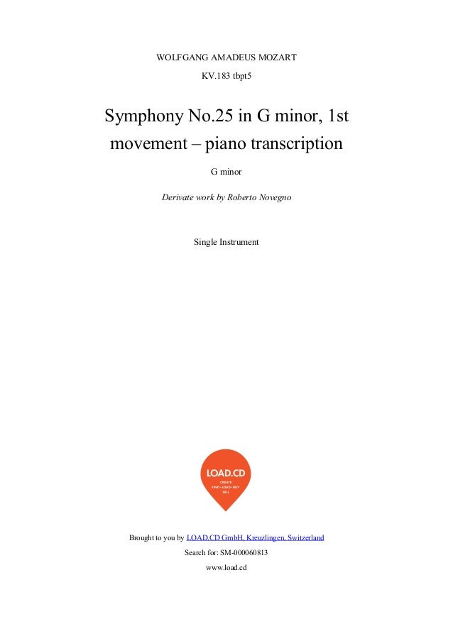 WOLFGANGAMADEUSMOZART                       KV.183tbpt5SymphonyNo.25inGminor,1st movement–pianotranscription   ...