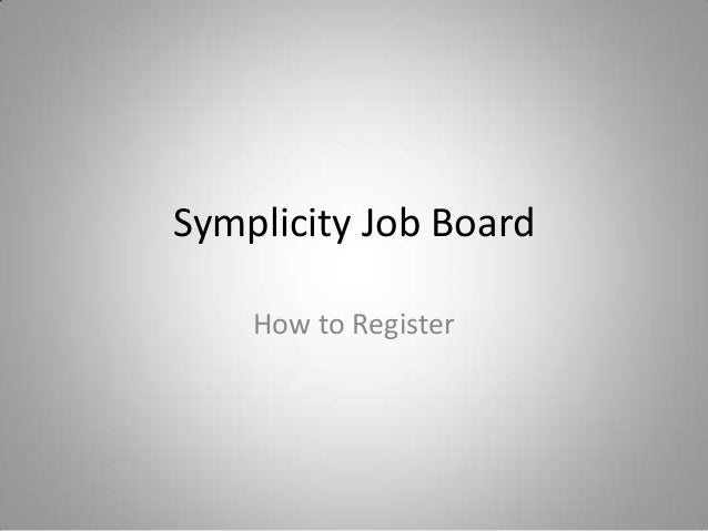 Symplicity Job Board How to Register