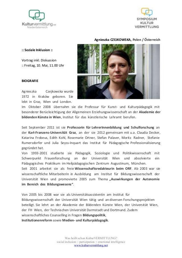 Was heißt schon KulturVERMITTLUNG?social inclusion :: participation :: emotional intelligencewww.kulturvermittlung.netAgni...