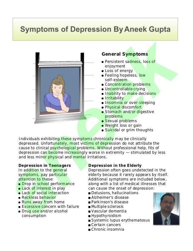 Symptoms of Depression by Aneek Gupta