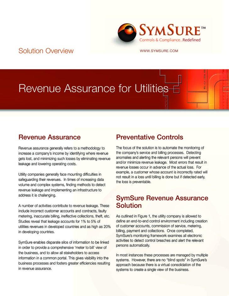 Solution Overview                                                                    WWW.SYMSURE.COM     Revenue Assurance...