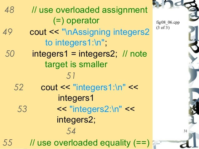 Overloaded assignment operator