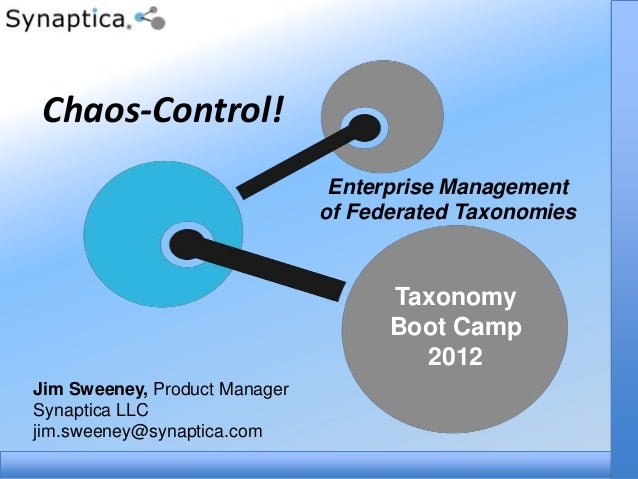 Chaos-Control!                                Enterprise Management                               of Federated Taxonomies ...
