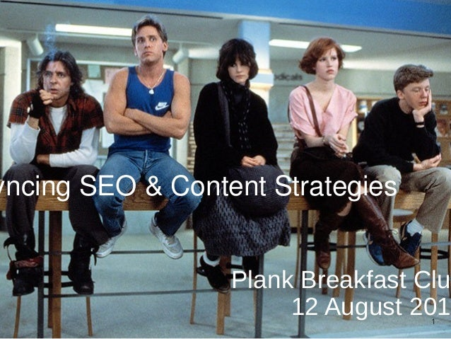 Plank Breakfast Club 12 August 2014 yncing SEO & Content Strategies 1