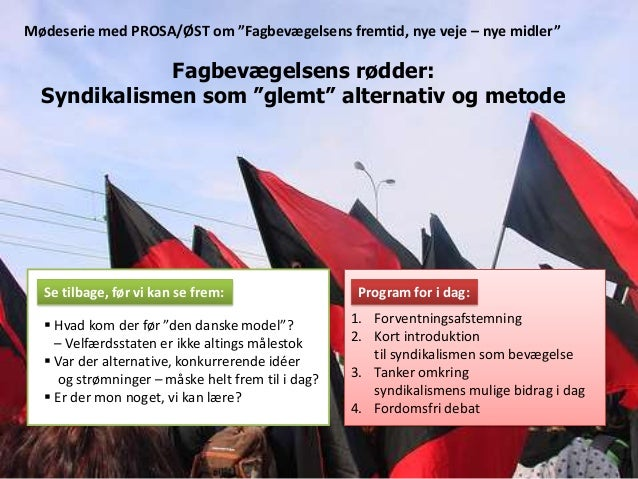 Syndikalismen som alternativ